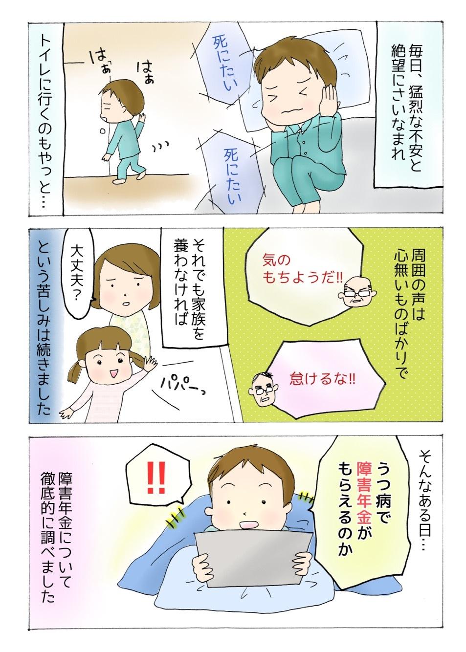 【うつ病障害年金漫画】うつ病の症状